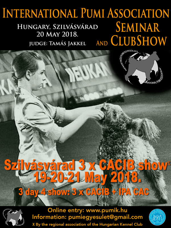International Pumi Seminar and Clubshow, Szilvásvárad