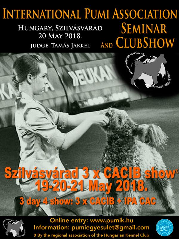 International Pumi Seminar and Clubshow, Szilvásvárad